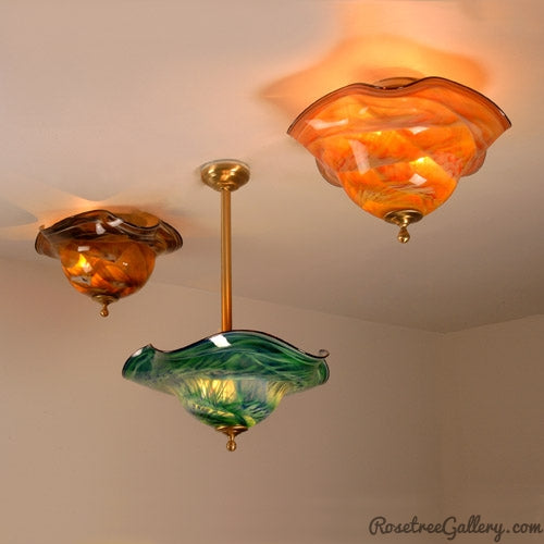 Ceiling Fixtures - Rosetree Blown Glass Studio and Gallery | New Orleans
