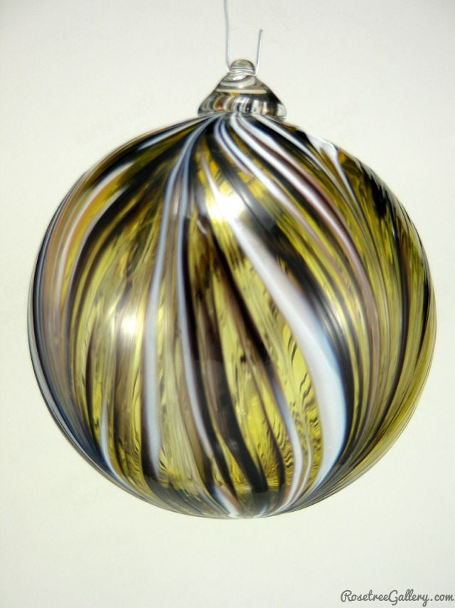 Who Dat Ball - Rosetree Blown Glass Studio and Gallery | New Orleans