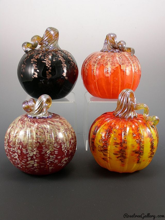 Glitter Pumpkin - Rosetree Blown Glass Studio and Gallery | New Orleans