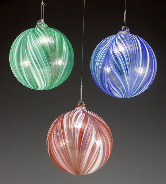 Ribbon Ornaments - Rosetree Blown Glass Studio and Gallery | New Orleans