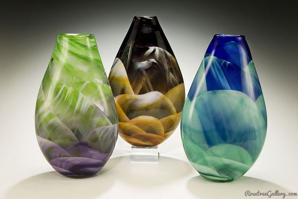 Teardrop Vase - Rosetree Blown Glass Studio and Gallery | New Orleans
