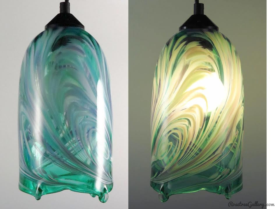 Flame Pendants - Rosetree Blown Glass Studio and Gallery | New Orleans