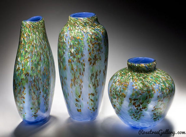Wisteria Vases - Rosetree Blown Glass Studio and Gallery | New Orleans