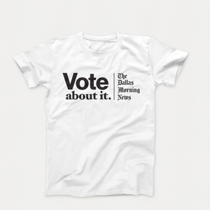 Vote About It T-Shirt B&W