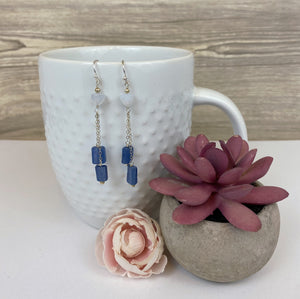 Iolite & Chalcedony Dangle