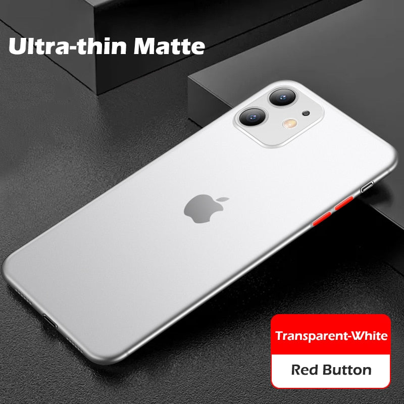 Luxury Contrast Color Protective Matte Phone Case For iPhone