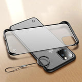 Hard Transparent Matte Back Cover Frameless Case for IPhone