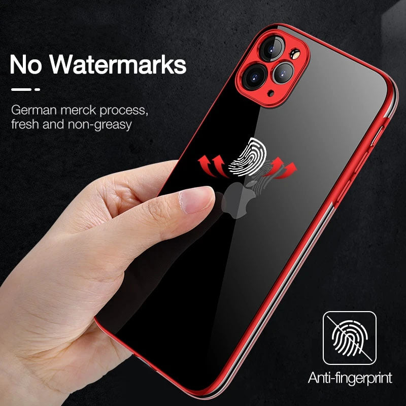 Luxury Cover Soft TPU Silicone  Ultra Thin Shockproof Case For iPhone