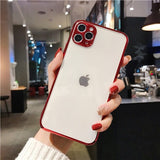 Shockproof  Soft TPU Clear Case For iPhone
