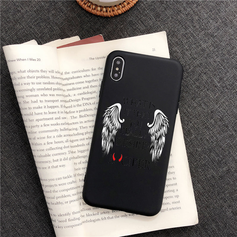 Degenerate Angel Lucifer TPU Soft Silicone phone Case  For iPhone