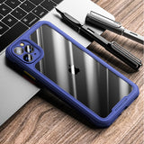 Shockproof Silicone Transparent Phone Case For iPhone
