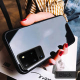 Tempered Glass Case with Soft Frame Shockproof Back Cover For Samsung