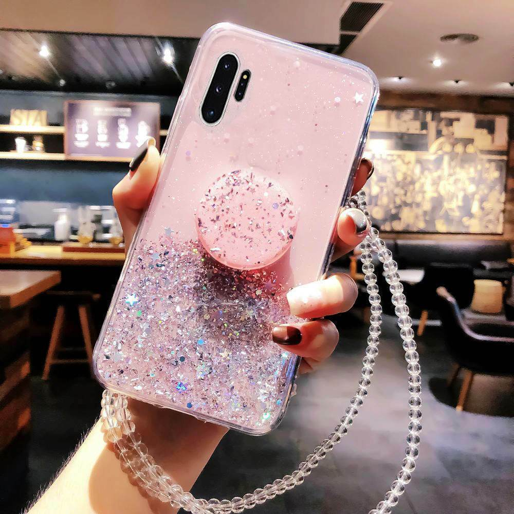 Bling Glitter Lanyard Holder Case For Samsung