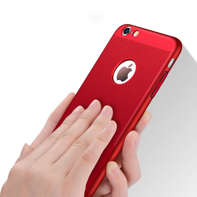 Breathing Phone Cases For iPhone Cooling Hard Plastic Cover