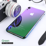 Luxury Soft edge + Hard PC Backing Cover Transparent Gradient Phone Case For iPhone