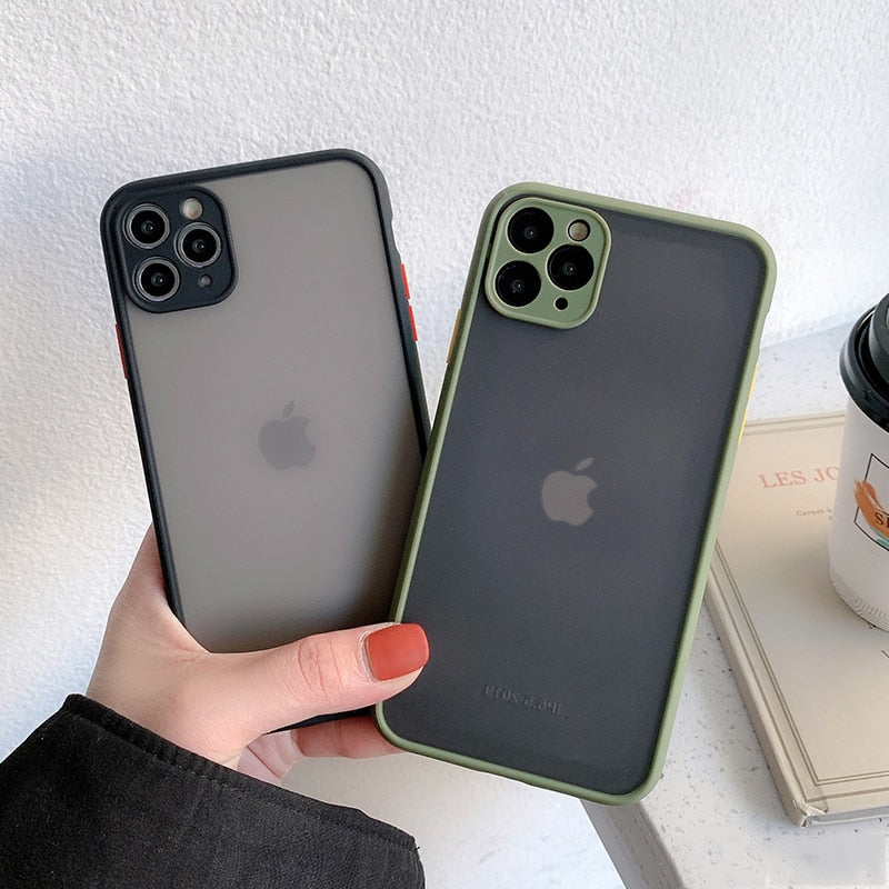 Camera Protection Bumper Phone Cases For iPhone