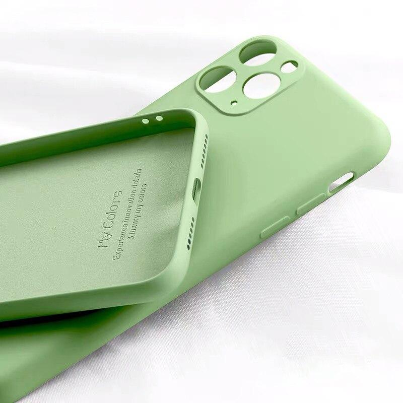 Liquid Silicone Soft Full Cover Case For iPhone