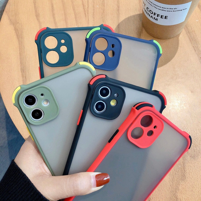 Camera Protection Bumper Phone Case For iPhone