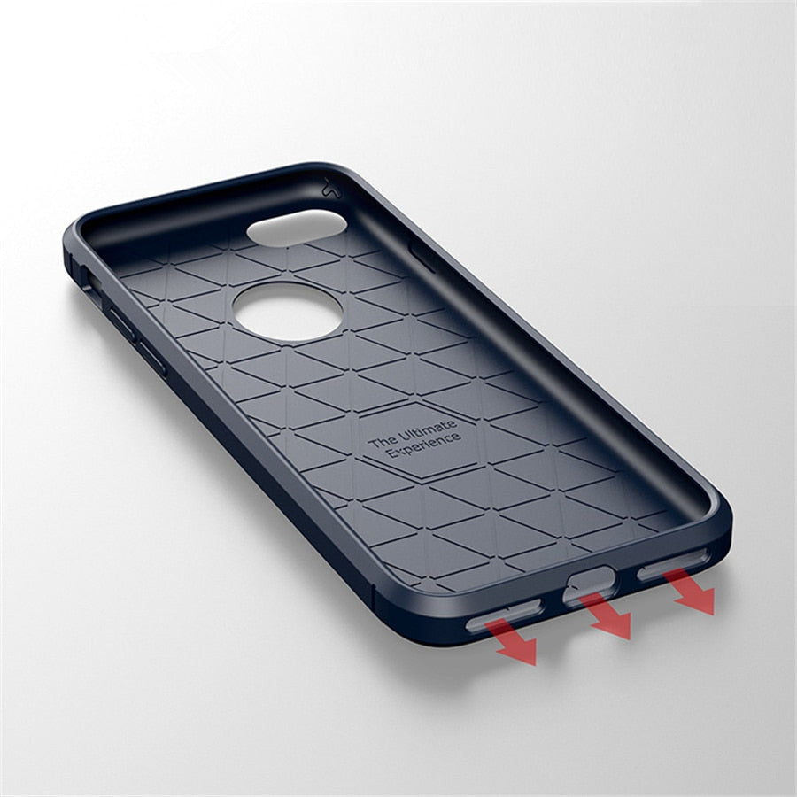 Carbon Fiber Silicone Cover Shockproof TPU Case for iphone