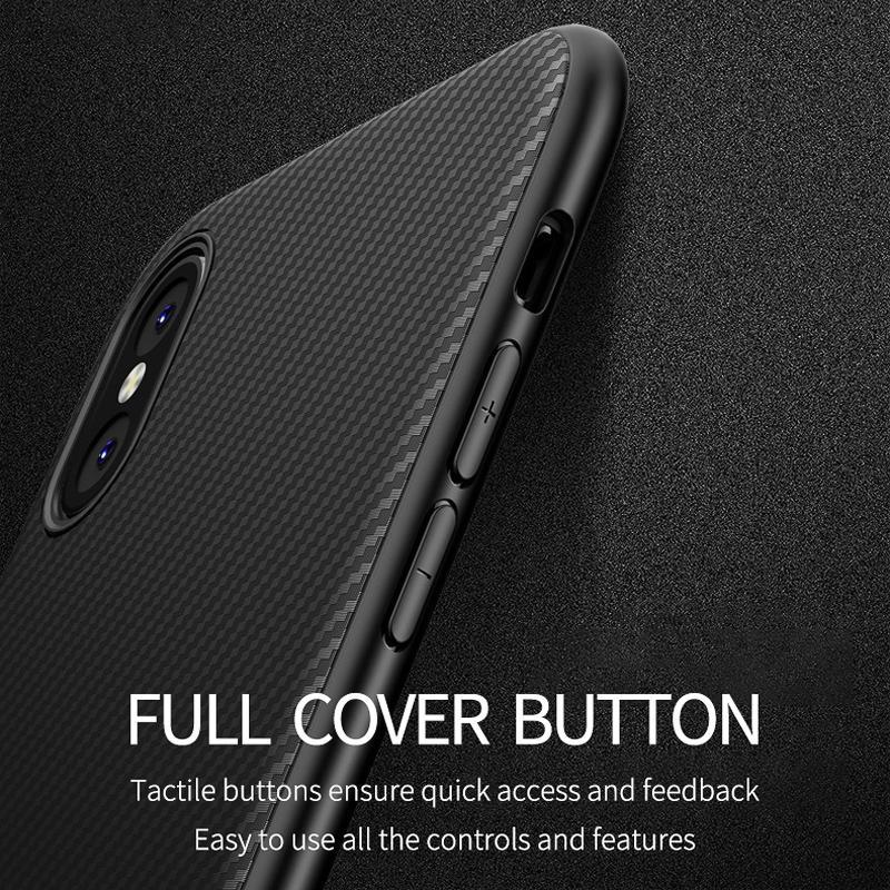 Carbon Fiber Texture Matte Case For iPhone