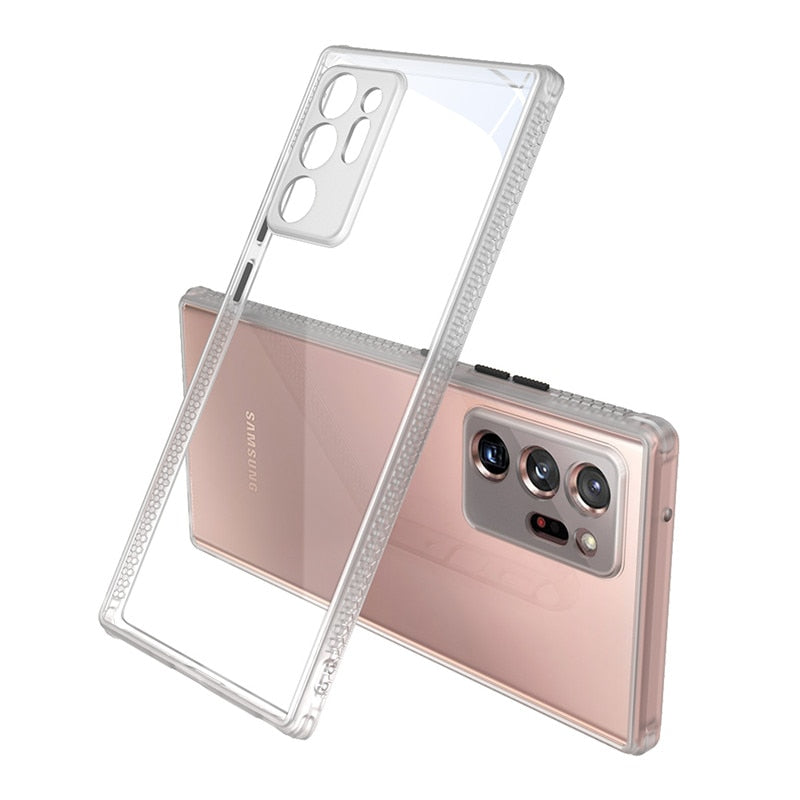 Transparent Hard Back Cover Soft Shockproof Bumper for Samsung Galaxy