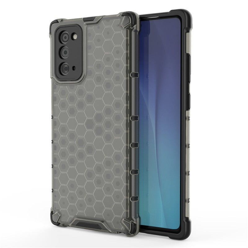 Drop Resistant Translucent Honeycomb Pattern Case For Samusung
