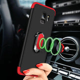 Luxury Magnetic Ring Matte Case For Samsung