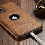 Luxury Business Leather Stitching  Case Cover for iphone