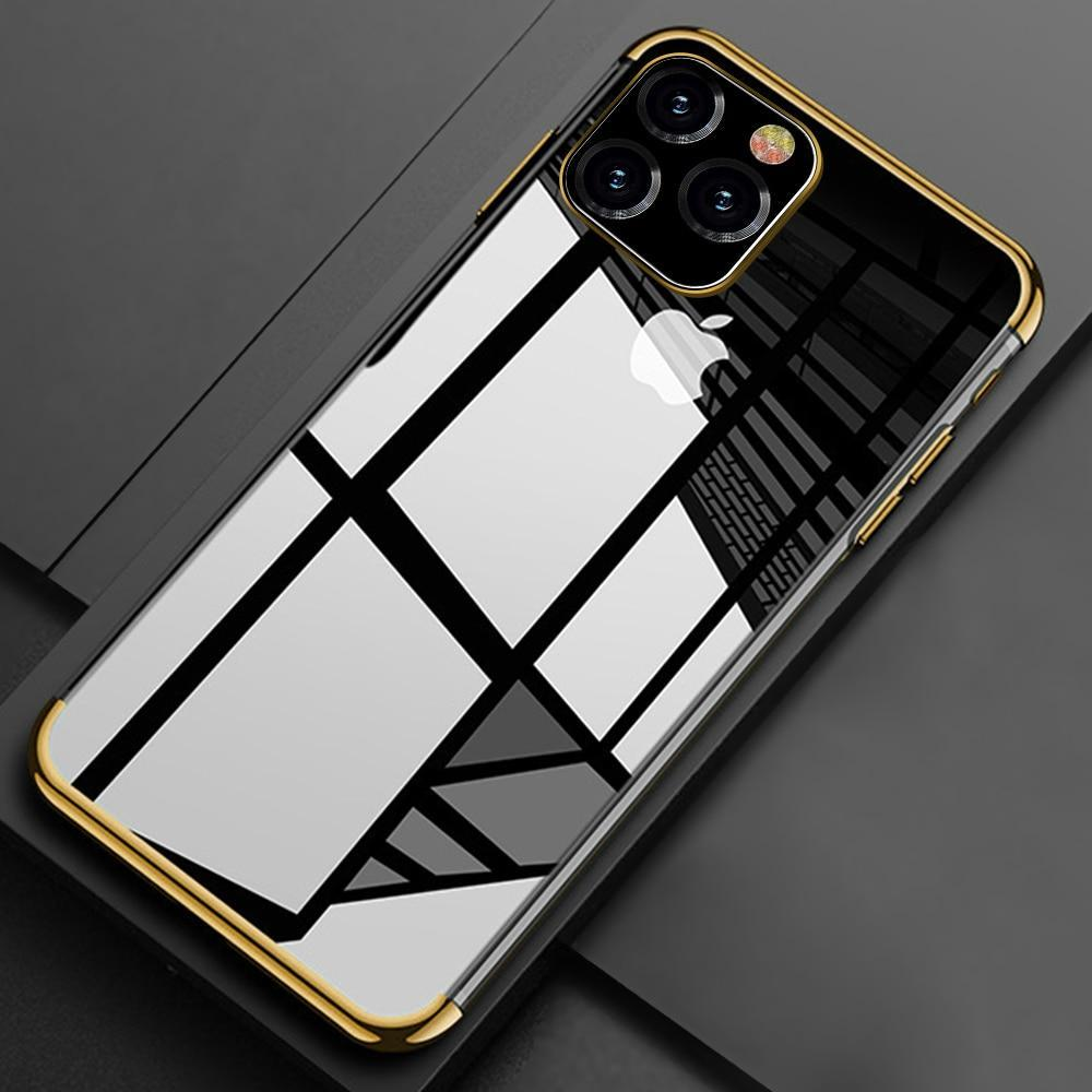 Laser Plating Luxury TPU Soft Clear Case For iPhone