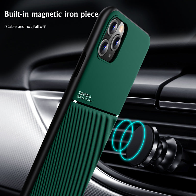 Luxury Car Magetic Twill Soft Cover Protective Case For iPhone