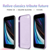 New Square Liquid Silicone Soft Skin Case For iPhone