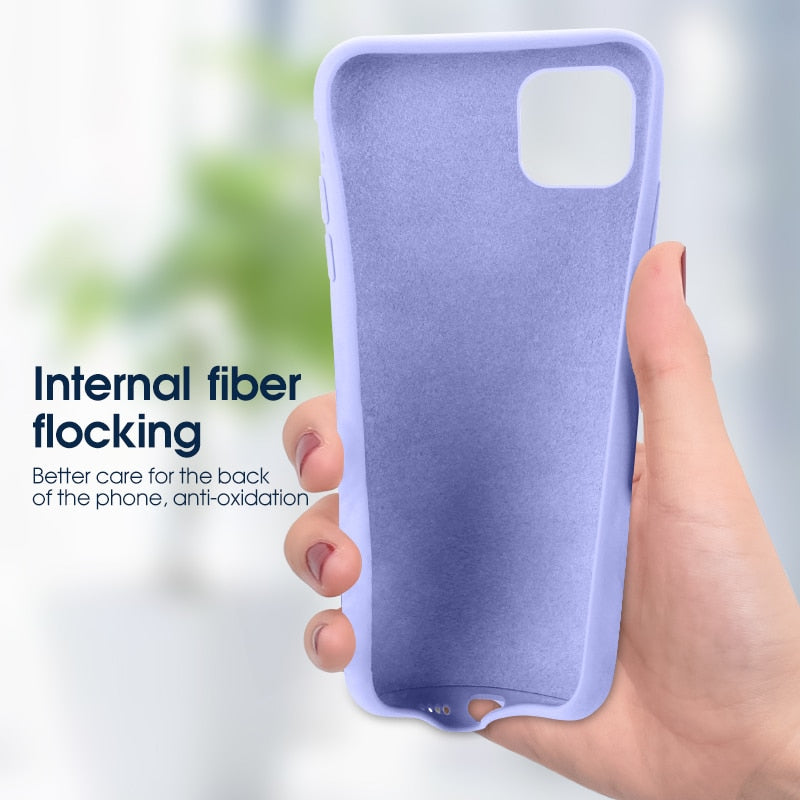 Soft Silicone Color Premium TPU Protective Cover Phone Case For iPhone