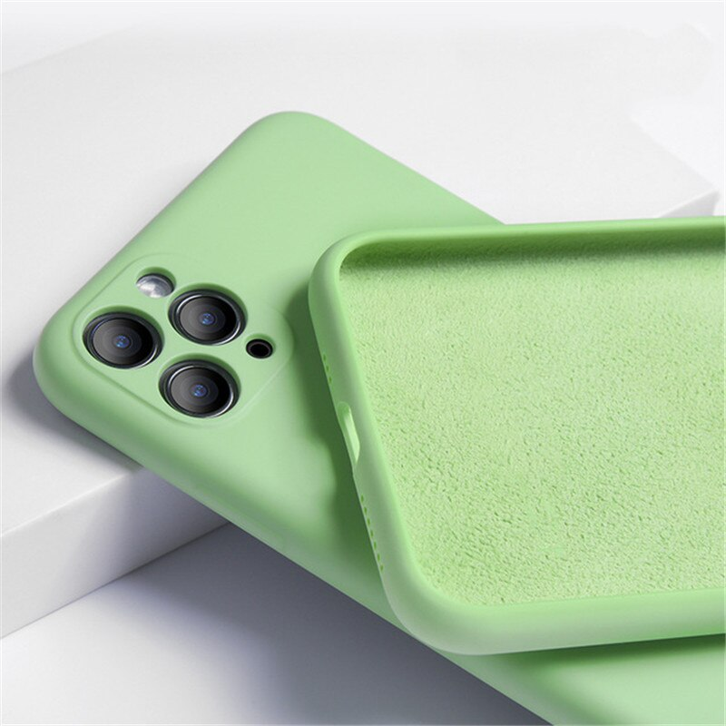Luxury Original Liquid Silicone Matte Soft Cover Flexible Shockproof Phone Case For iPhone
