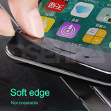 Full Cover Tempered Glass On Screen Protector Glass Soft Edge For iPhone