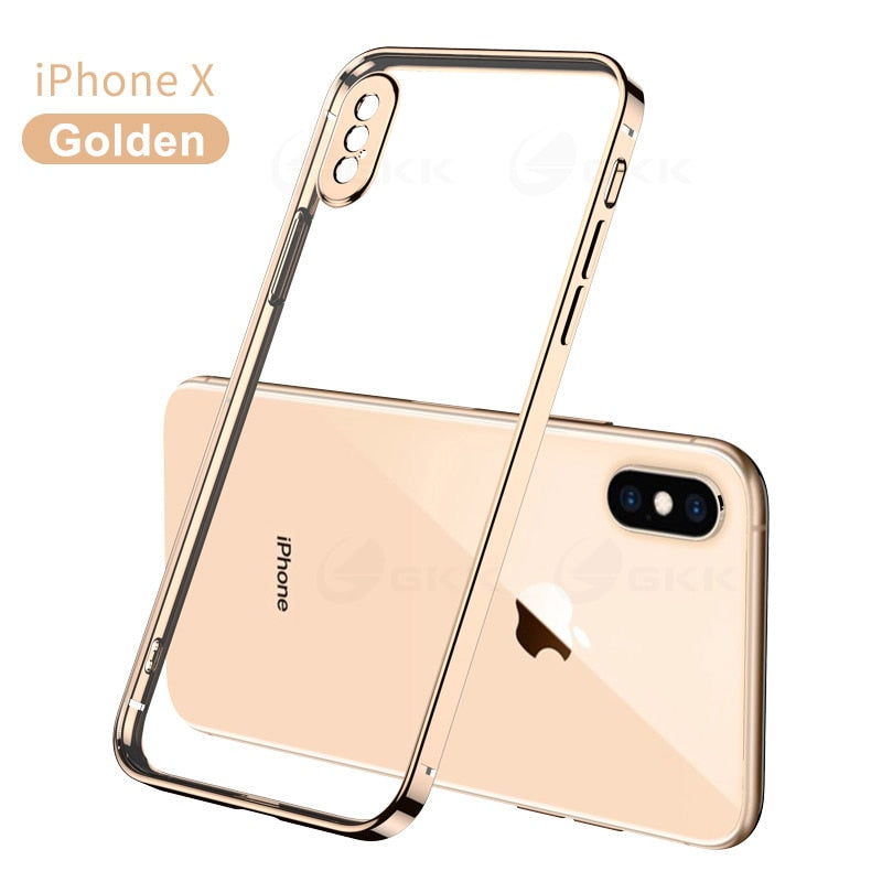 Original Luxury Classic Full Protection HD Plating Soft Case For IPhone