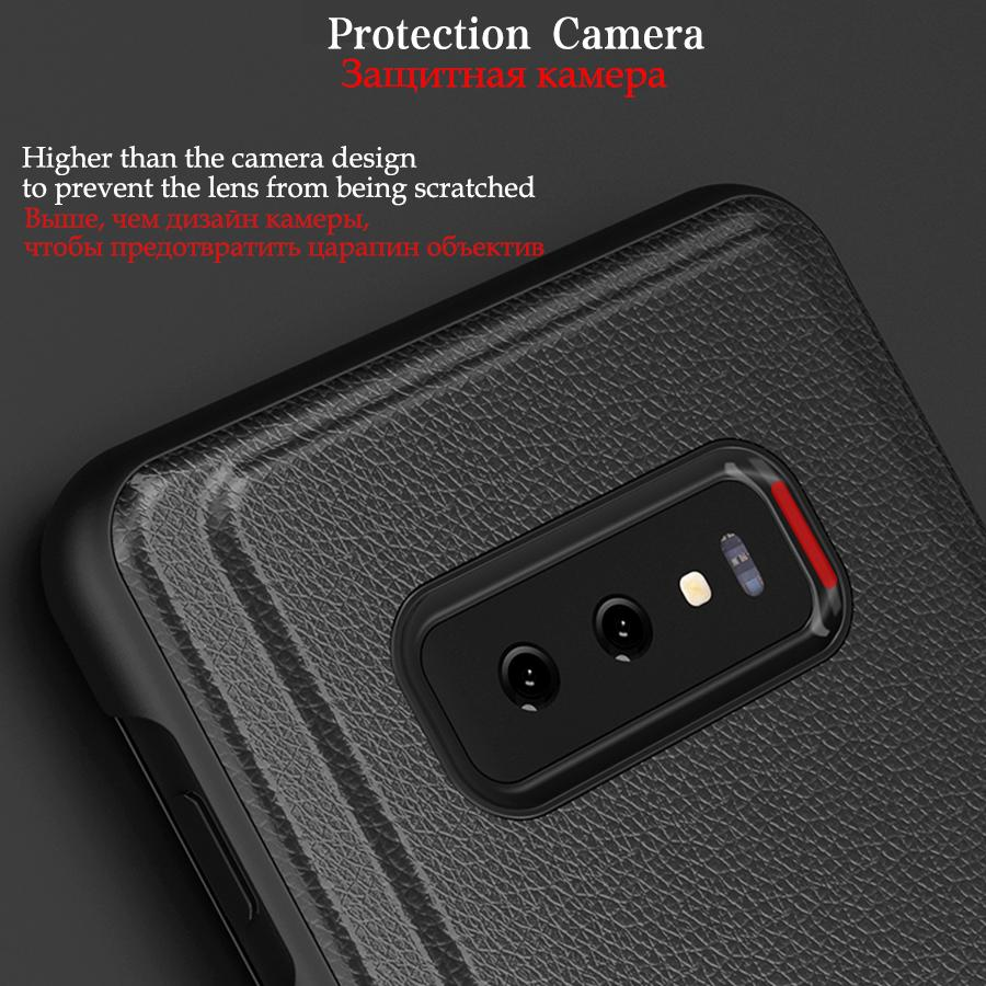Smart View Flip Leather Case For Samsung S10 S9 S8 Note 9 8