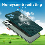 Soft Heat Dissipation Breathable Cooling Phone Case For iPhone