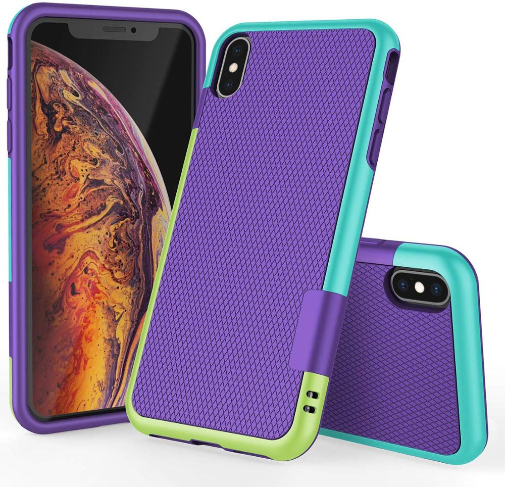 Rubber Anti-Slip Protective Case for iPhone