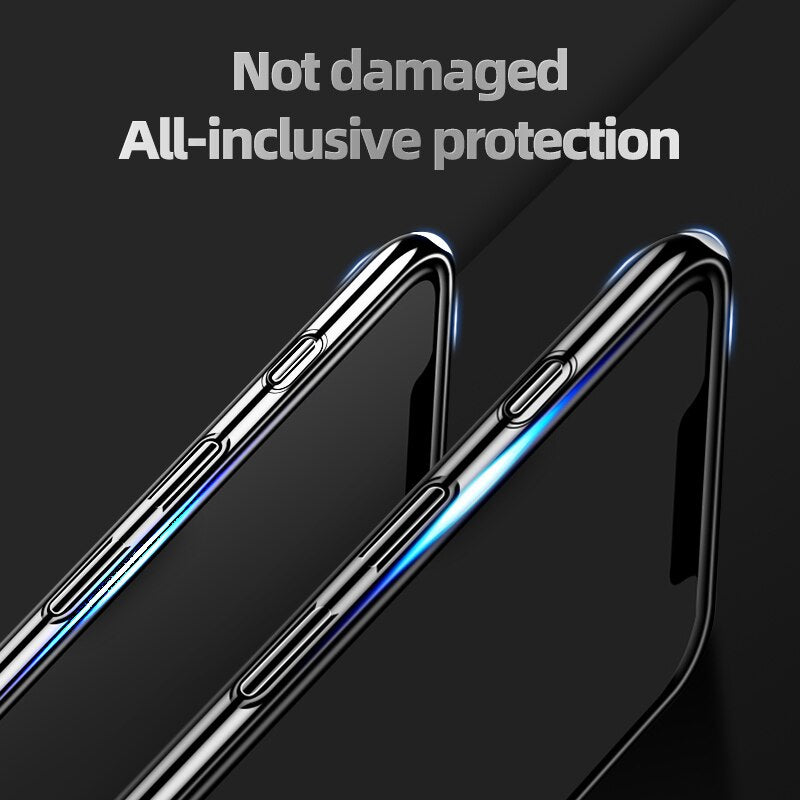 Luxury Colorful Lens Glass Shockproof Back Cover Case For iPhone