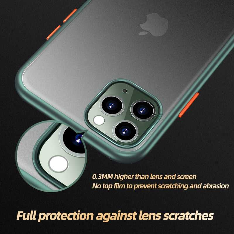Luxury Transparent Protect Shockproof Back Case For iPhone