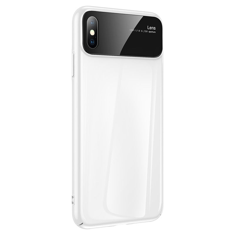 Luxury Mirror Glass Phone Slim Shockproof Back Cover For iPhone