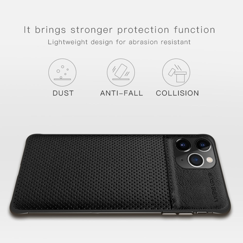 Slim Color Contrast Business Thin Cover Genuine PU Leather Phone Case for IPhone