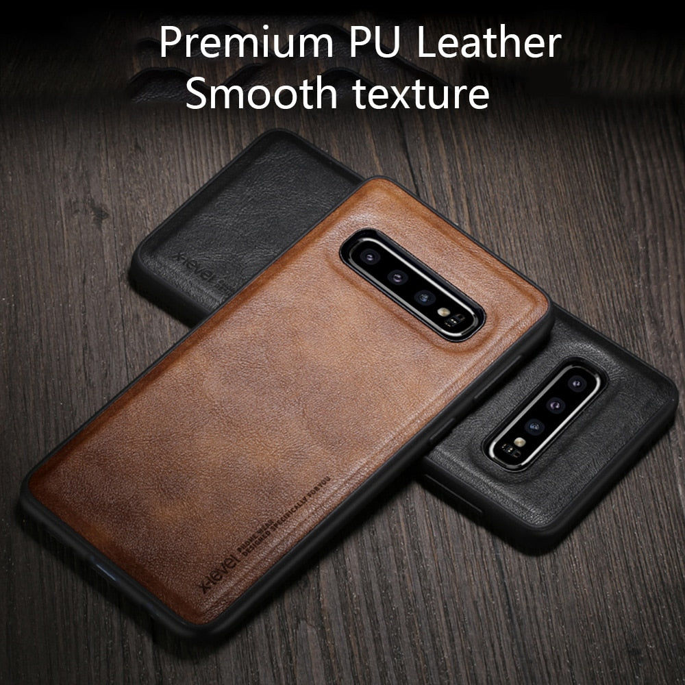 Leather Slim Thin Case for Samsung Galaxy