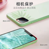 Liquid Glass  Scratch-Resistant Anti-Fall Colorful Back Cover Protective Case For iPhone