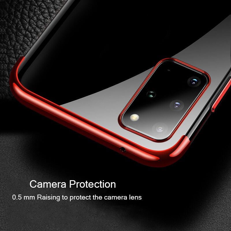 Luxury Transparent Silicone Shockproof Case For Samsung Galaxy