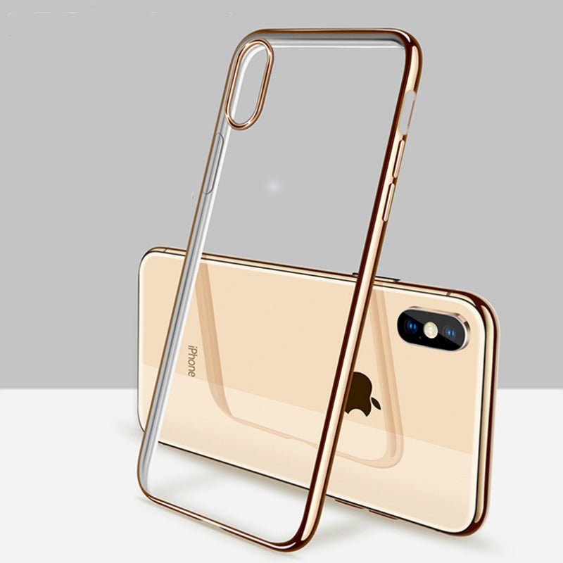 Luxury  Ultra Thin Crystal Rubber Plating  Cover  Case For iPhone