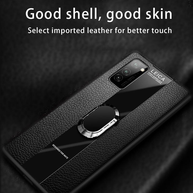Luxury Leather Magnetic Holder Case For Huawei