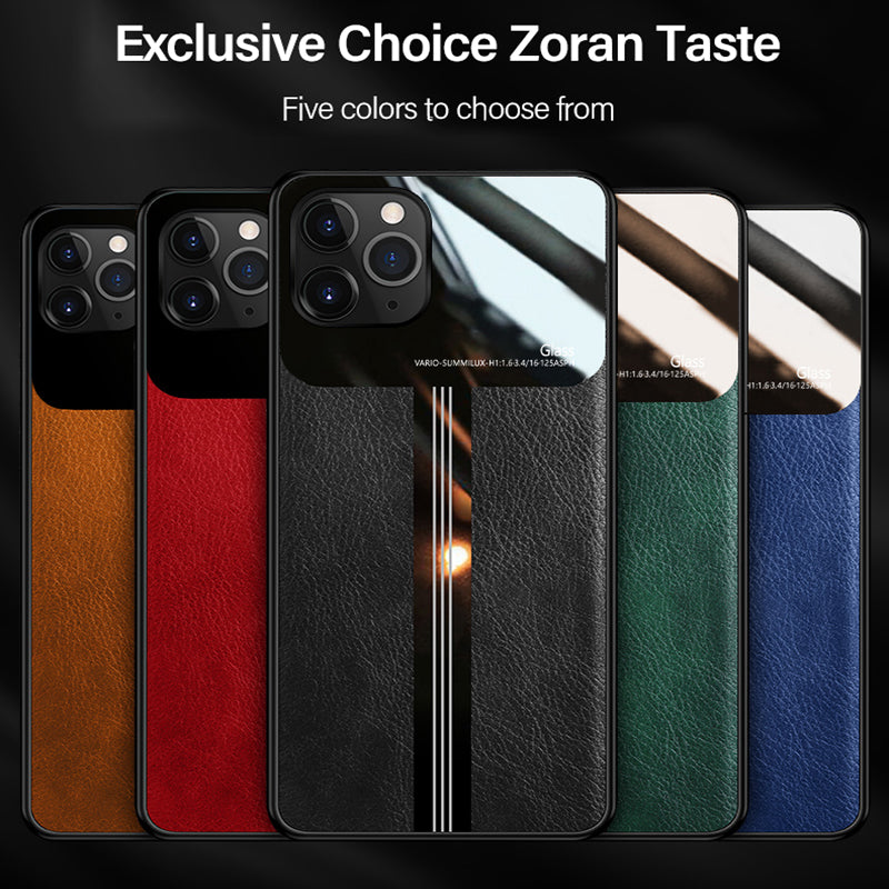 Ultra-thin Plexiglass Luxury Leather Silicone Phone Case For iPhone
