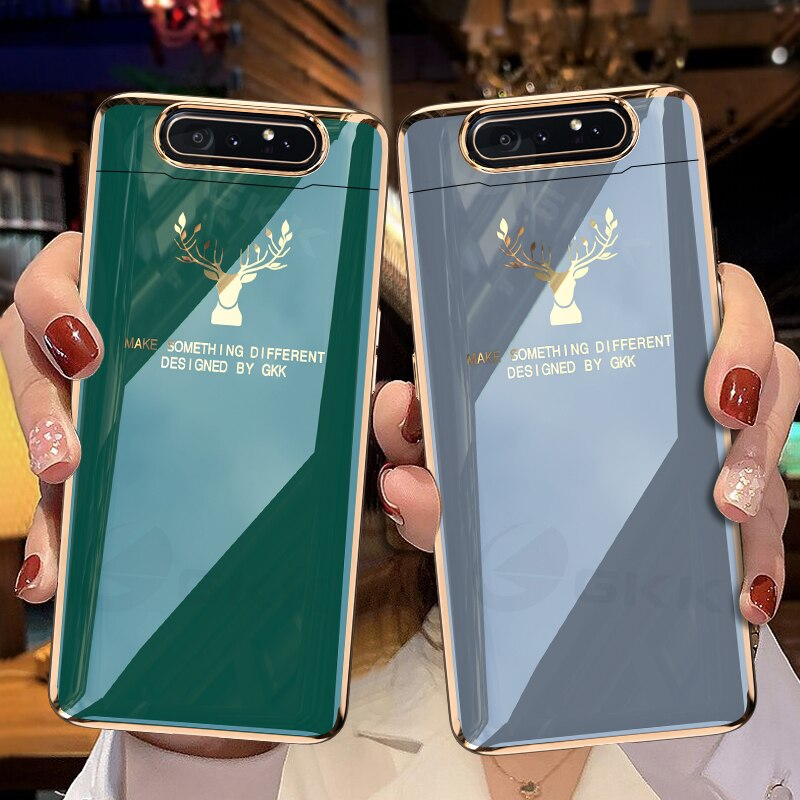 Luxury Plating Elk Pattern Hard Case For Samsung Galaxy A80