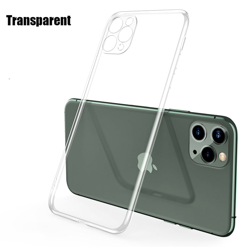 Luxury Plating Frame Matte  Thin Slim Clear Shockproof Cover Silicone Cases For iPhone